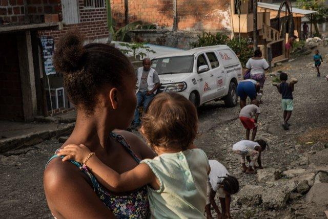 Trabajos de MSF en Buenaventura (Colombia)