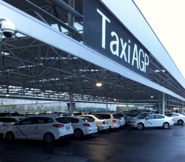 Taxis en el aeropuerto de Málaga