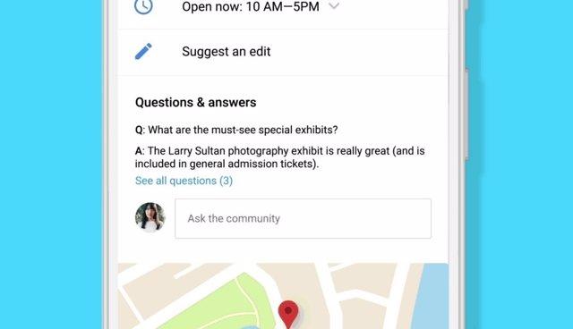 Preguntas y Respuestas en Google Maps
