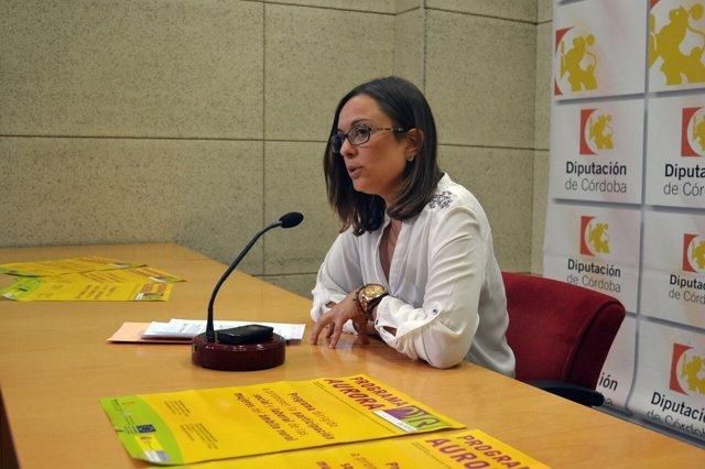 Ana María Guijarro en la rueda de prensa