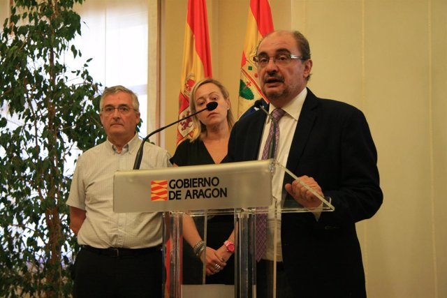 Javier Lambán en la presentación del proyecto de Pini.