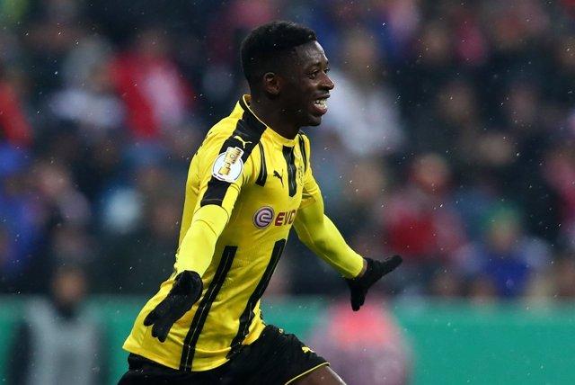 El futbolista del Borussia Dortmund Ousmane Dembele