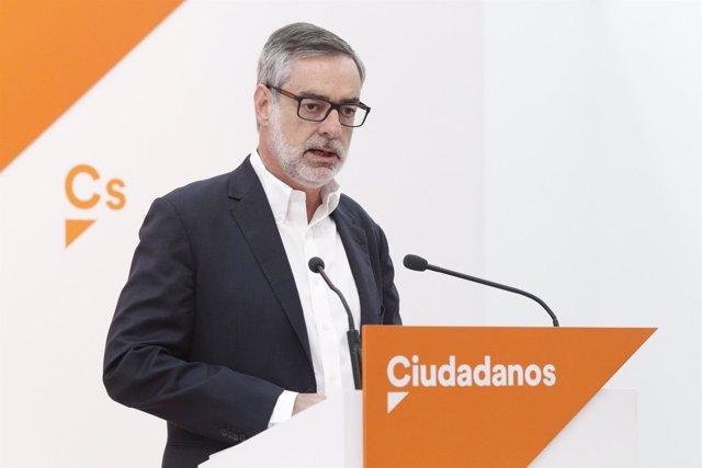 Secretario general de Ciudadanos, José Manuel Villegas