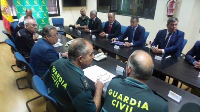 El ministro Zoido, en una reunión este jueves en Algeciras (Cádiz)