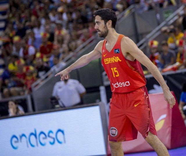 Joan Sastre jugando con España