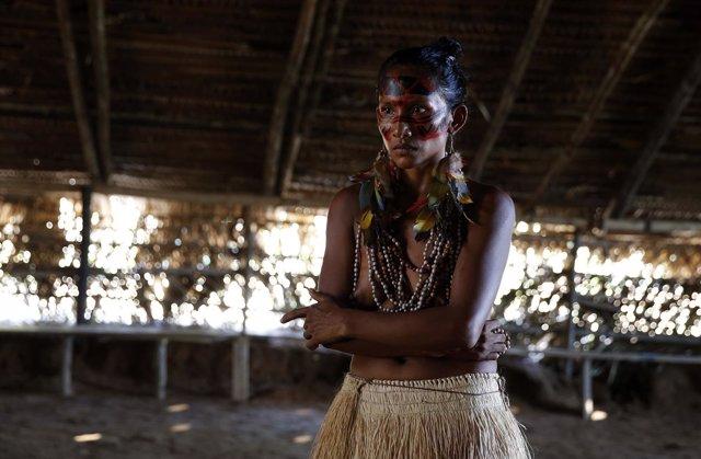 Un indígena brasileño de la tribu Tatuyo, en una imagen de archivo
