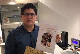 El coordinador de Voluntad Popular España, Arlen Barrera.