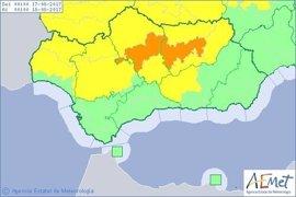Aviso naranja este jueves en Córdoba y Jaén por altas temperaturas y amarillo en Sevilla, Huelva y Granada