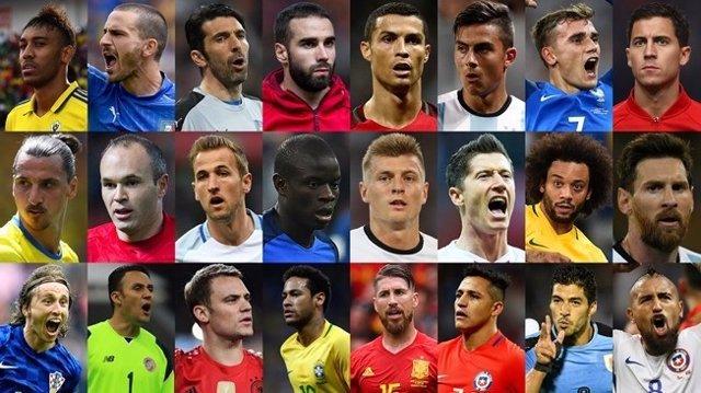 Jugadores nominados al premio 'The Best'