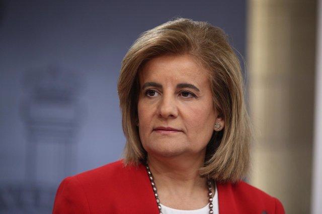 Fátima Báñez en rueda de prensa tras el Consejo de Ministros