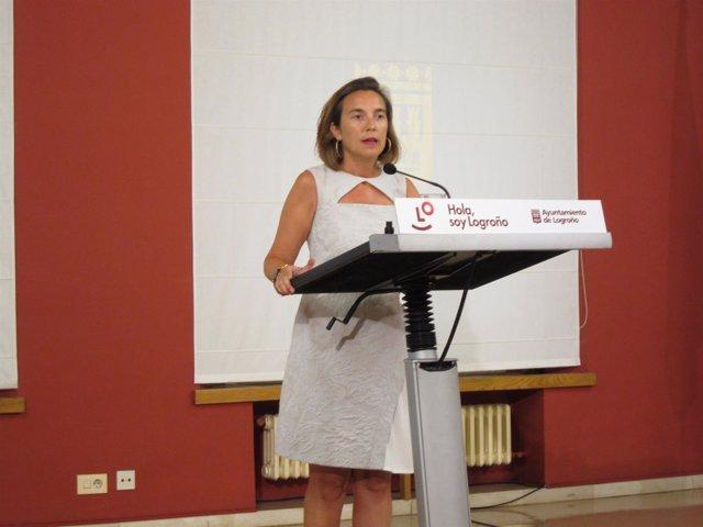 La alcaldesa de Logroño, Cuca Gamarra, analiza Ronda Sur