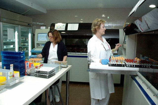 Laboratorio del Complejo Hospitalario de Jaén.