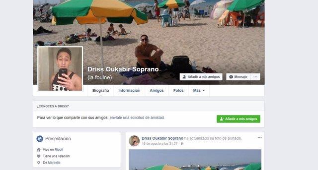 Perfil de Facebook de Driss Oukabir