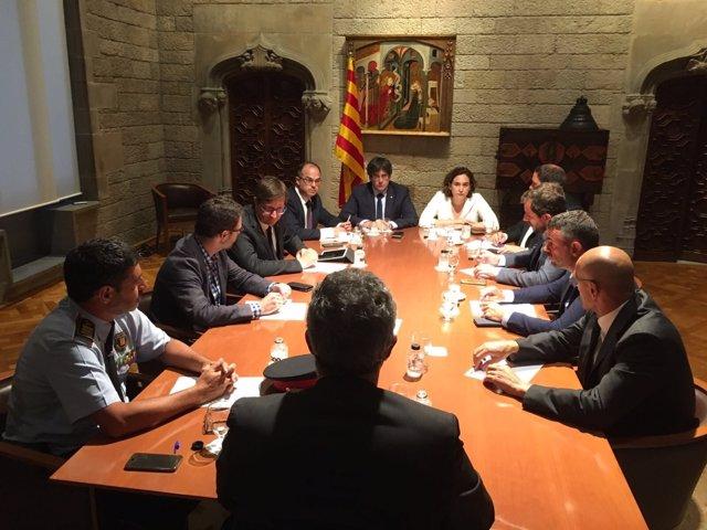 Gabinete de crisis por el atentado de Barcelona