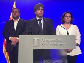 """Puigdemont sobre las fuerzas de seguridad: """"No ha habido división ni disputa que valga"""""""