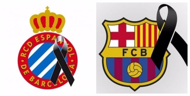 """Barça y Espanyol, con el """"corazón encogido"""" por el ataque terrorista"""