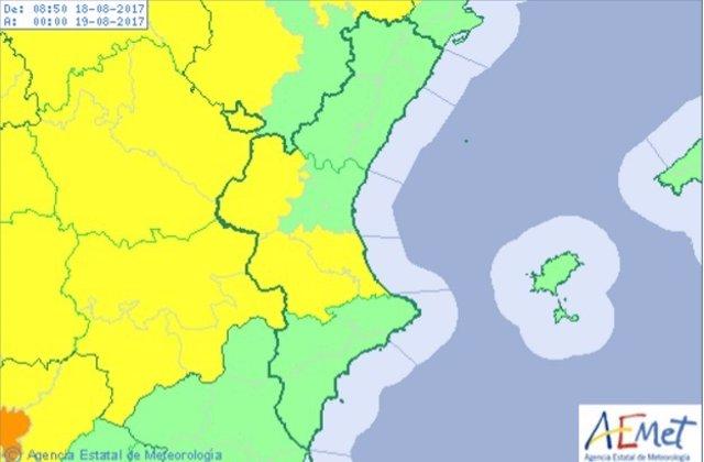 Valencia está en aviso amarillo por calor
