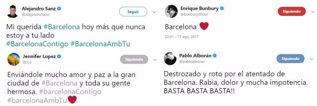 LA MÚSICA REACCIONA AL ATENTADO DE BARCELONA