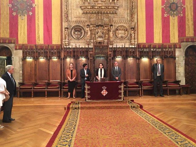 A. Colau, G. Pisarello, J. Collboni y J. Sanz condenan el atentado