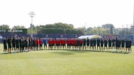 FC Barcelona, RCD Espanyol y Girona FC guardan un minuto de silencio por el atentado