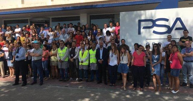 Minuto de silencio de PSA España por atentados en Barcelona