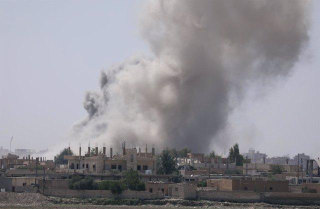 Ataques en Raqqa