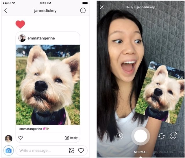 Instagram introduce la respuesta con vídeos y fotos