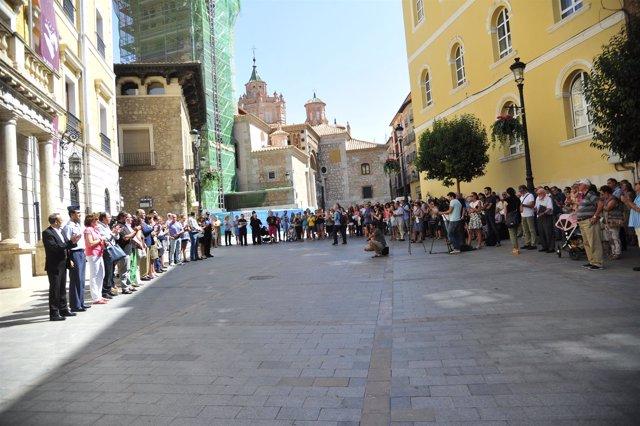 Concentración en Teruel tras los atentados yihadistas de Cataluña