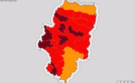 Aumentan las áreas en prealerta roja plus por incendios en Aragón