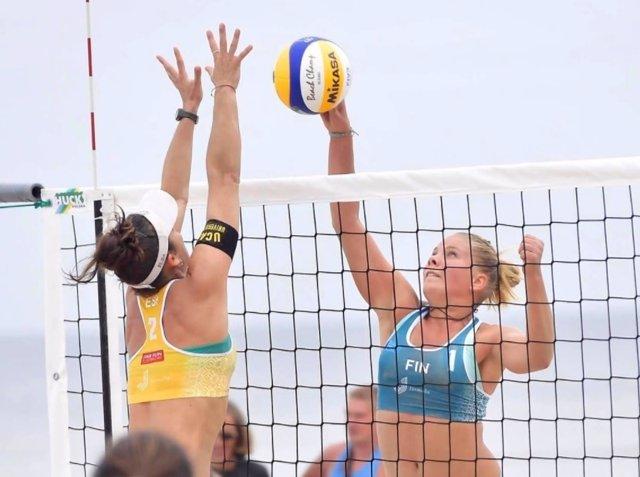 Elsa Baquerizo y Paula Soria Europeo voley playa