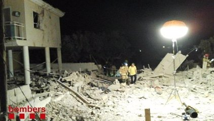 Els Mossos provocaran explosions controlades a la casa d'Alcanar (Tarragona)