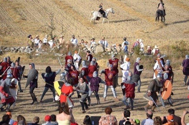 Imagen de una recreación de la Batalla de Atapuerca