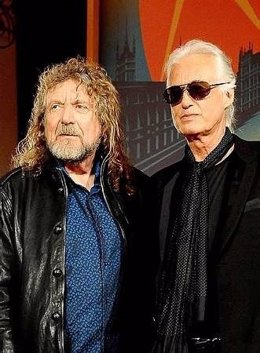 File photo dated 21/09/12 of Robert Plant (left) and Jimmy Page as the verdict t