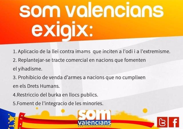 Medidas que plantea Som Valencians