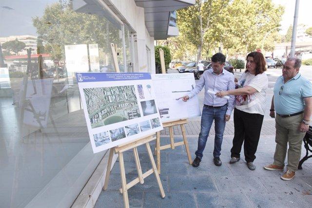 El alcade de Marbella, José Bernal, anuncia proyectos en La Bajadilla