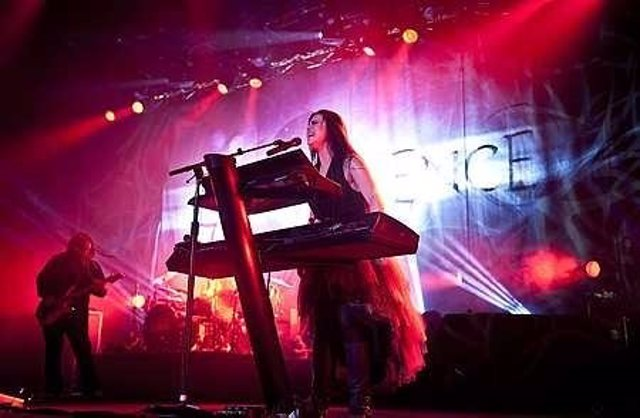 Amy Lee of Evanescence live in concert at the NIA in Birmingham.