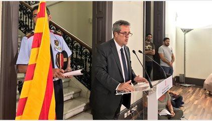 El consejero de Interior catalán distingue entre víctimas catalanas y españolas