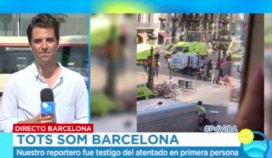 Luis Aliaga, el periodista de Ana Rosa que vivió en primera persona el atentado de Barcelona