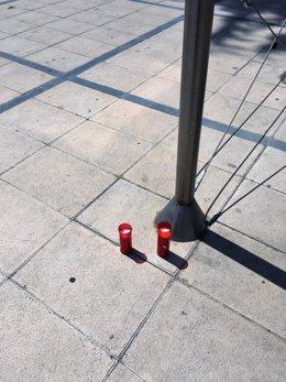 Dos velas en Cambrils (Tarragona) tras el atentado