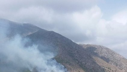 Declarado un incendio forestal en El Higuerón de Mijas