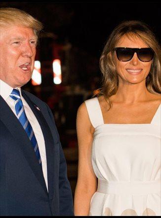 Melania Trump vuelve a confiar en Del Pozo con el color del verano
