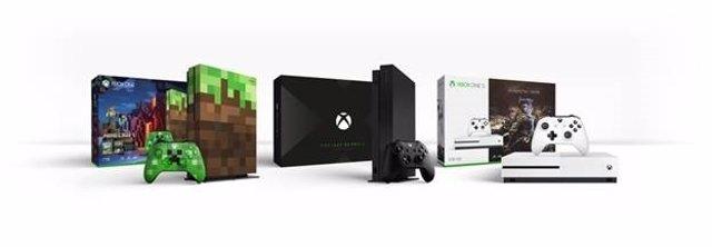 Xbox One X S nuevas ediciones limitadas project scorpio Minecraft