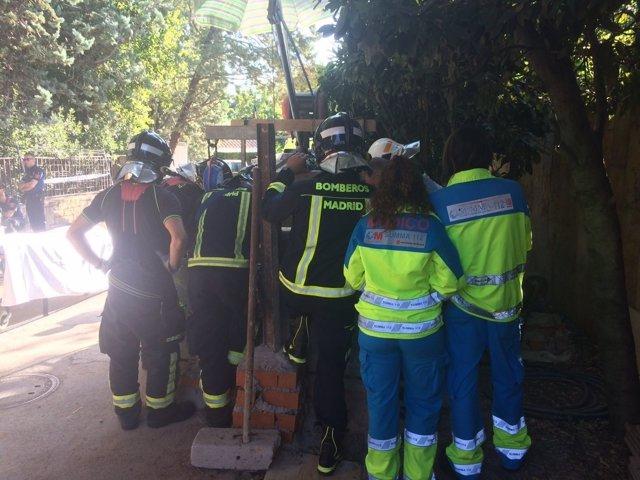 Imagen del accidente laboral en Hortaleza