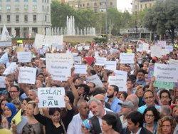 Atemptat.- La comunitat musulmana catalana clama contra el terrorisme a Barcelona (EUROPA PRESS)