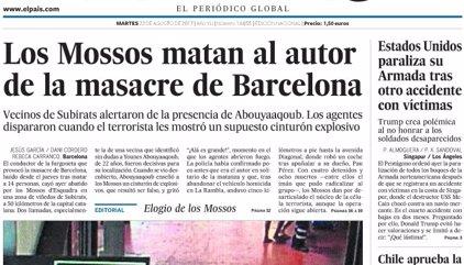 Las portadas de los periódicos de hoy, martes 22 de agosto de 2017