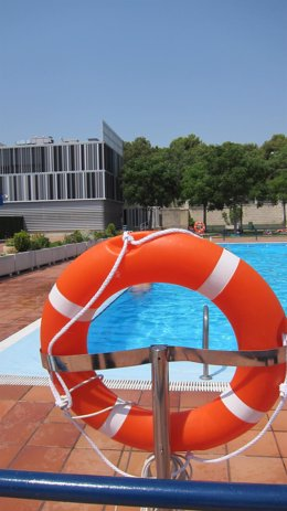 Salvavidas, piscina, verano