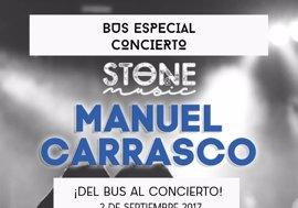 Habrá servicio especial de autobuses para asistir al concierto de Manuel Carrasco en Mérida