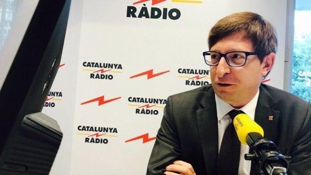 El conseller de Justicia, Carles Mundó, en una entrevista en Catalunya Ràdio.