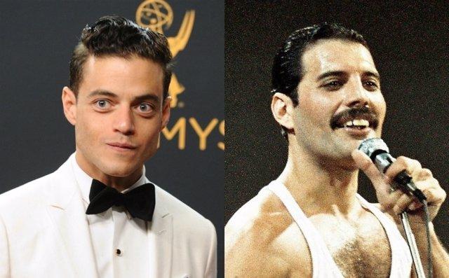 El actor Rami Malek y el cantante Freddie Mercury