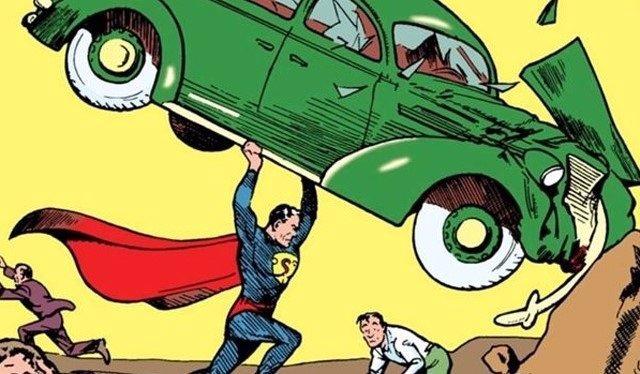 Henry Cavill posa junto al #1 Action Comics